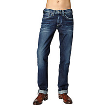 Buy Pepe Jeans Cash Straignt Leg Jeans, Mid Wash Online at johnlewis.com
