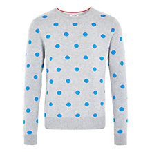 Buy HYMN Dornoch Blue Spot Jumper, Grey Online at johnlewis.com