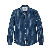 Buy Pepe Jeans Ferrer Printed Shirt, Indigo Online at johnlewis.com
