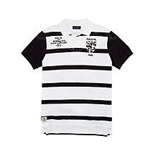 Buy Polo Ralph Lauren Monochrome Stripe Polo Shirt, White/Black Online at johnlewis.com