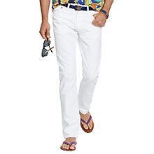 Buy Polo Ralph Lauren Hudson Varick Slim Jeans, White Online at johnlewis.com