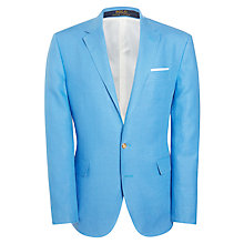 Buy Polo Ralph Lauren Two Button Linen Blazer, Bright Blue Online at johnlewis.com