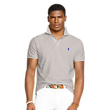 Buy Polo Ralph Lauren Custom Fit Mesh Polo Shirt, Grey Online at johnlewis.com