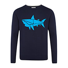 Buy HYMN George Shark Motif Jumper, Navy Online at johnlewis.com
