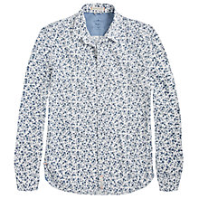 Buy Pepe Jeans Hugo Vintage Floral Print Shirt, White/Blue Online at johnlewis.com