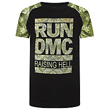 Buy Eleven Paris Lorun Run DMC Graphic T-Shirt, Black/Green Online at johnlewis.com