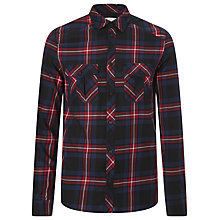 Buy Eleven Paris Geek Check Cotton Shirt, Black/Red Online at johnlewis.com