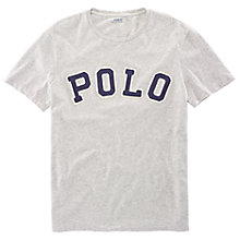 Buy Polo Ralph Lauren Crew Neck Applique Logo T-Shirt Online at johnlewis.com