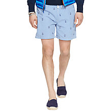 Buy Polo Ralph Lauren Traveler Anchor Swim Shorts, Blue Online at johnlewis.com