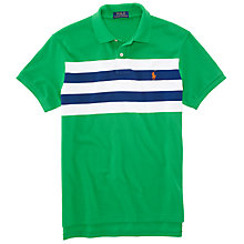 Buy Polo Ralph Lauren Panel Stripe Polo Shirt Online at johnlewis.com