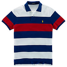 Buy Polo Ralph Lauren Contrast Block Stripe Polo Shirt, Chase Blue Online at johnlewis.com