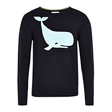 Buy HYMN Willy Whale Jumper, Navy Online at johnlewis.com