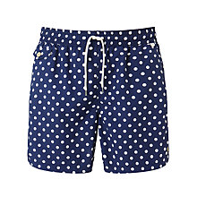 Buy Polo Ralph Lauren Polka Dot Swim Shorts, Navy/White Online at johnlewis.com