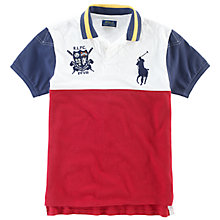 Buy Polo Ralph Lauren Contrast Panel Polo Shirt, Multi Online at johnlewis.com