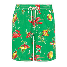 Buy Polo Ralph Lauren Ocean Swim Shorts, Green Online at johnlewis.com