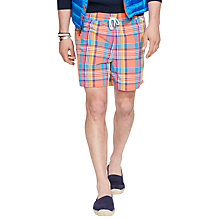 Buy Polo Ralph Lauren Plaid Swim Shorts, Orange Online at johnlewis.com