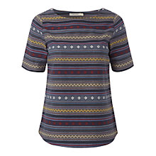 Buy White Stuff Stipple Top, Grey Online at johnlewis.com