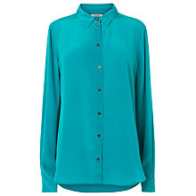 Buy L.K. Bennett Derb Long Sleeve Silk Shirt, Jade Online at johnlewis.com