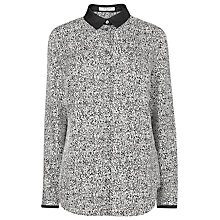 Buy L.K. Bennett Anabel Silk Print Shirt, White/Black Online at johnlewis.com