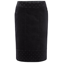 Buy White Stuff Mad Hatter Knee Skirt, Navy Online at johnlewis.com