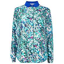 Buy L.K. Bennett Rosa Ditsy Floral Print Top, Jade Online at johnlewis.com