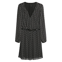 Buy Mango Turtle Print Dress, Black Online at johnlewis.com