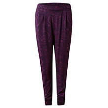 Buy East Fern Paisley Printed Trousers, Plum Online at johnlewis.com
