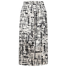 Buy L.K. Bennett Safari Jacquard Skirt, Black Online at johnlewis.com