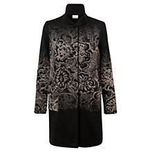 Buy East Floral Ombre Coat, Black Online at johnlewis.com
