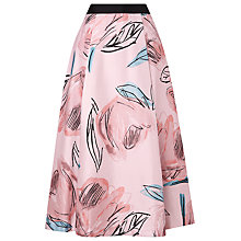 Buy L.K. Bennett Sarvi Rose Print Full Skirt, Rose Online at johnlewis.com