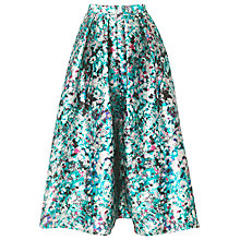 Buy L.K. Bennett Susan Floral Print Full Skirt, Jade Online at johnlewis.com