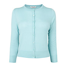 Buy L.K. Bennett Bonnie Crew Neck Wool Cardigan, Mint Online at johnlewis.com