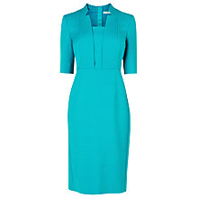 Buy L.K. Bennett Ross Notch Collar Fitted Dress, Jade Online at johnlewis.com