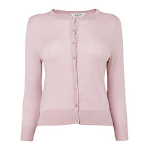 Buy L.K. Bennett Bonnie Crew Neck Wool Cardigan, Marshmallow Online at johnlewis.com