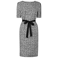 Buy L.K. Bennett Anabel Silk Print Dress, White/Black Online at johnlewis.com