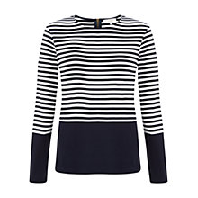 Buy Hobbs Iona Top, Navy Ivory Online at johnlewis.com