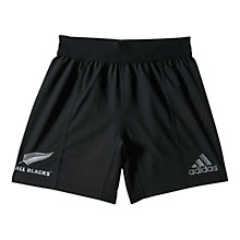 Buy Adidas All Blacks Climacool® Rugby Shorts, Black Online at johnlewis.com