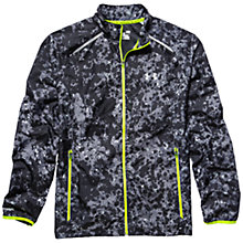 Buy Under Armour Printed Launch Storm Run Jacket, Black/Yellow Online at johnlewis.com