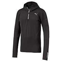 Buy Puma Core Half Zip Running Hoodie, Black Online at johnlewis.com