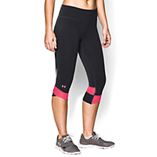 Buy Under Armour Fly-By Compression Capri Pants, Black/Pink Online at johnlewis.com