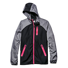 Buy Under Armour Qualifier Woven Running Jacket, Black/Grey Online at johnlewis.com