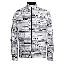 Buy Puma Graphic Print Running Jacket, White/Black Online at johnlewis.com