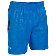 "Buy Under Armour Launch Woven 7"" Run Shorts, Blue Jet Online at johnlewis.com"