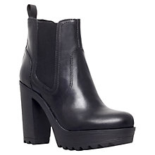 Buy KG by Kurt Geiger Silver Leather High Heel Ankle Boots, Black Online at johnlewis.com