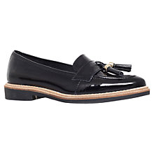 Buy KG by Kurt Geiger Lucien Patent Leather Loafers, Black Online at johnlewis.com
