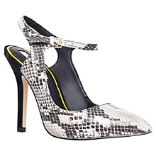 Buy Miss KG Ariel Pointed Court Shoes, Beige Snake Online at johnlewis.com