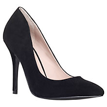 Buy KG by Kurt Geiger Dita Suede Court Shoes, Black Online at johnlewis.com