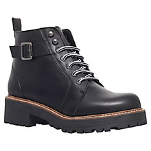 Buy KG by Kurt Geiger Siberia Leather Boots, Black Online at johnlewis.com