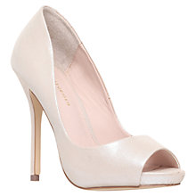 Buy KG by Kurt Geiger Dreamie Peep Toe Leather Court Shoes Online at johnlewis.com