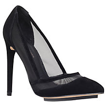 Buy Kurt Geiger Harlow Suede Court Shoes, Black Online at johnlewis.com